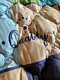 """Одеяло на овчине """"ODA"""" Размер 200*220 см   Ковдра вовняна . Стеганое Евро одеяло, чехол 100% Хлопок, фото 4"""