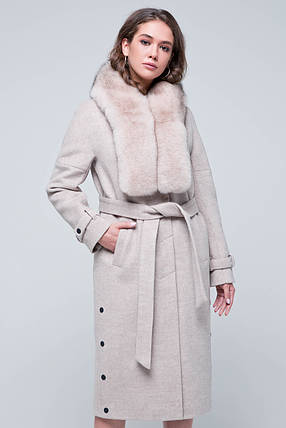 Пальто Нинель бежевый, фото 2