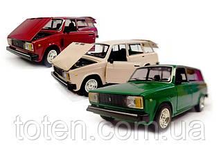 Машина металлическая ВАЗ 2104 АВТОПРОМ. Инерция, свет, звук, открыв двери, автомодель  1:24 3 цвета