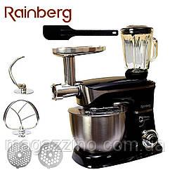 Кухонний комбайн Rainberg RB-8080, 3 в 1 Тістоміс, М'ясорубка, Блендер, 2200 Вт.
