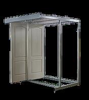 Стелаж під дверні полотна (20 дверей), стелаж для дверей і дверних полотен 2185х1740х1640