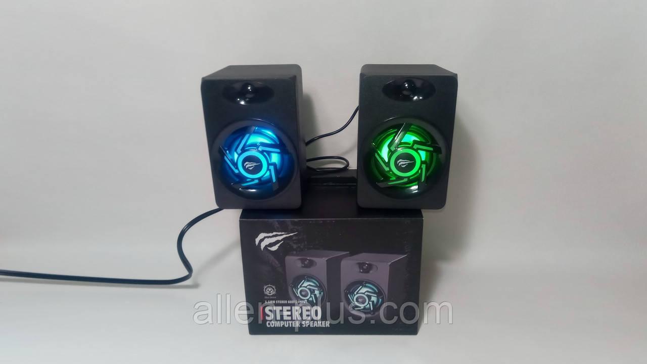 Акустические колонки HAVIT HV-SK706, подсветка, USB, black