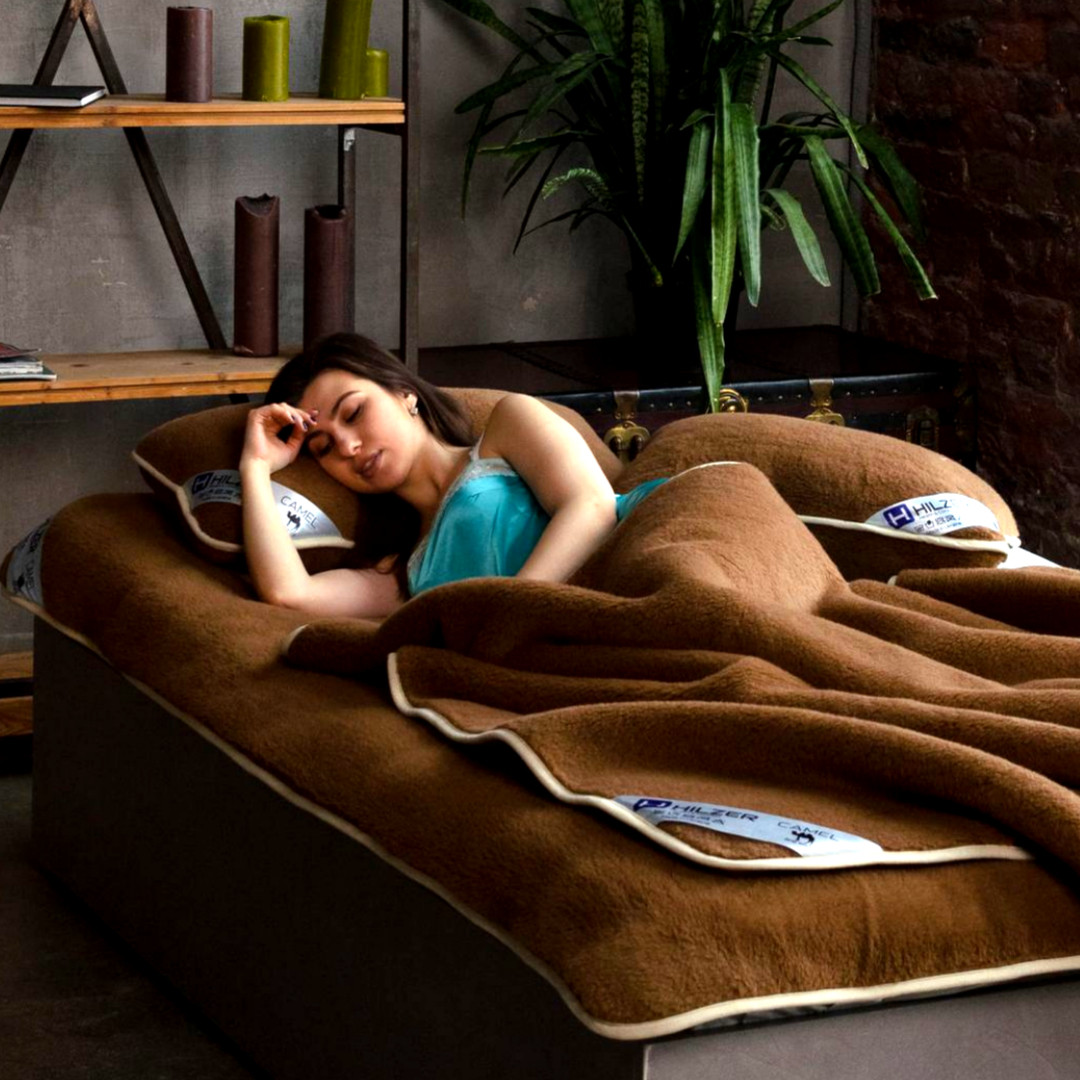 Эксклюзивный постельный комплект с шерсти верблюда. Шерсть/шерсть. Разные размеры + подарок