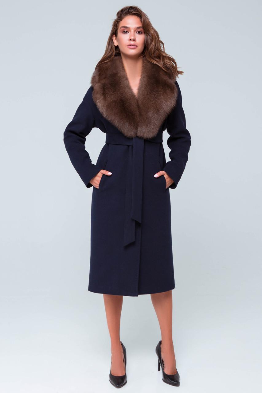Пальто Барбара синий