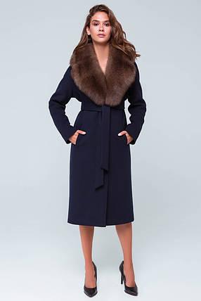 Пальто Барбара синий, фото 2