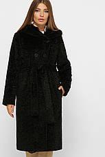 Шуба жіноча зимова з еко-хутра розмір:50, фото 3
