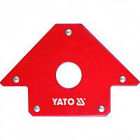 Магнитный Фиксатор(Струбцина)Для Сварки(102х155х17мм)22,5кг YATO (YT-0864)