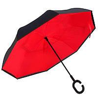 Вітрозахисний парасолька Up-Brella антизонт Парасолька зворотного складання (Червоний)