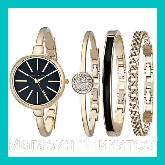 Часы в подарочной упаковке ANNE KLEIN Gold black!Акция