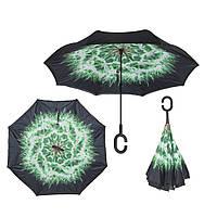 Вітрозахисний парасолька Up-Brella антизонт Парасолька зворотного складання (Кульбаба)