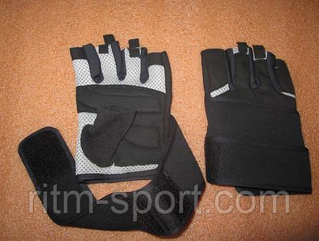 Рукавички для важкої атлетики з напульсником, фото 2