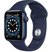 Apple Watch Series 6 GPS 40mm Blue Aluminum Case w. Deep Navy Sport B. (MG143) [50372]