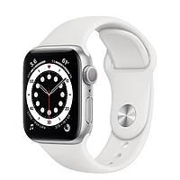 Apple Watch Series 6 GPS 44mm Silver Aluminum Case w. White Sport B. (M00D3) [50381]