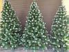 Елка Искусственная Королева лидия 2.2 м. Ель с белыми кончиками Штучна Ялинка. Елка пвх зеленая, фото 10