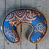 Ортопедическая подушка валик-рогалик с шерсти верблюда. Шерсть/шерсть. Гарантия 60 месяцев, фото 3