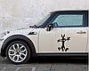 Наклейка для автомобиля мультяшный волк 3D 13*18см