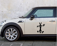 Наклейка для автомобиля мультяшный волк 3D 13*18см, фото 1