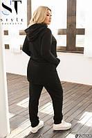 Спортивный женский костюм осенний батал удлиненная кофта XL-50 2XL-52 3XL-54