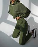 Теплый женский спортивный костюм с капюшоном 39-542, фото 2