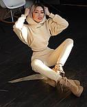 Теплый женский спортивный костюм с капюшоном 39-542, фото 3