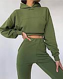 Теплый женский спортивный костюм с капюшоном 39-542, фото 7