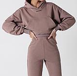 Теплый женский спортивный костюм с капюшоном 39-542, фото 4