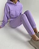 Теплый женский спортивный костюм с капюшоном 39-542, фото 5