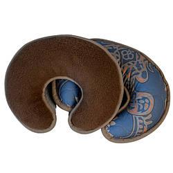 Ортопедическая подушка валик-рогалик с шерсти верблюда. Шерсть/шерсть. Гарантия 60 месяцев
