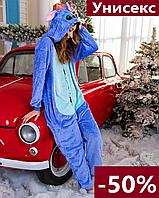 Кигуруми стич для взрослых и детей синяя пижама, мальчиков и девочек, пижамы кигуруми для девушек, парней
