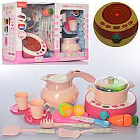 Посуд QC-19B плита, чайник-пара, посуд, овочі на липучці, муз., світло, бат., кор., 47-33-17 див.