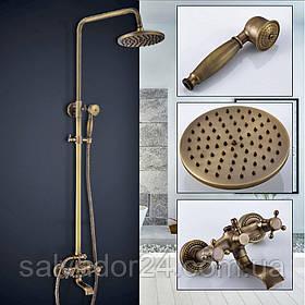 Душевая система Deco 6132 DBR бронза в античном стилеиз латуни для ванной комнаты