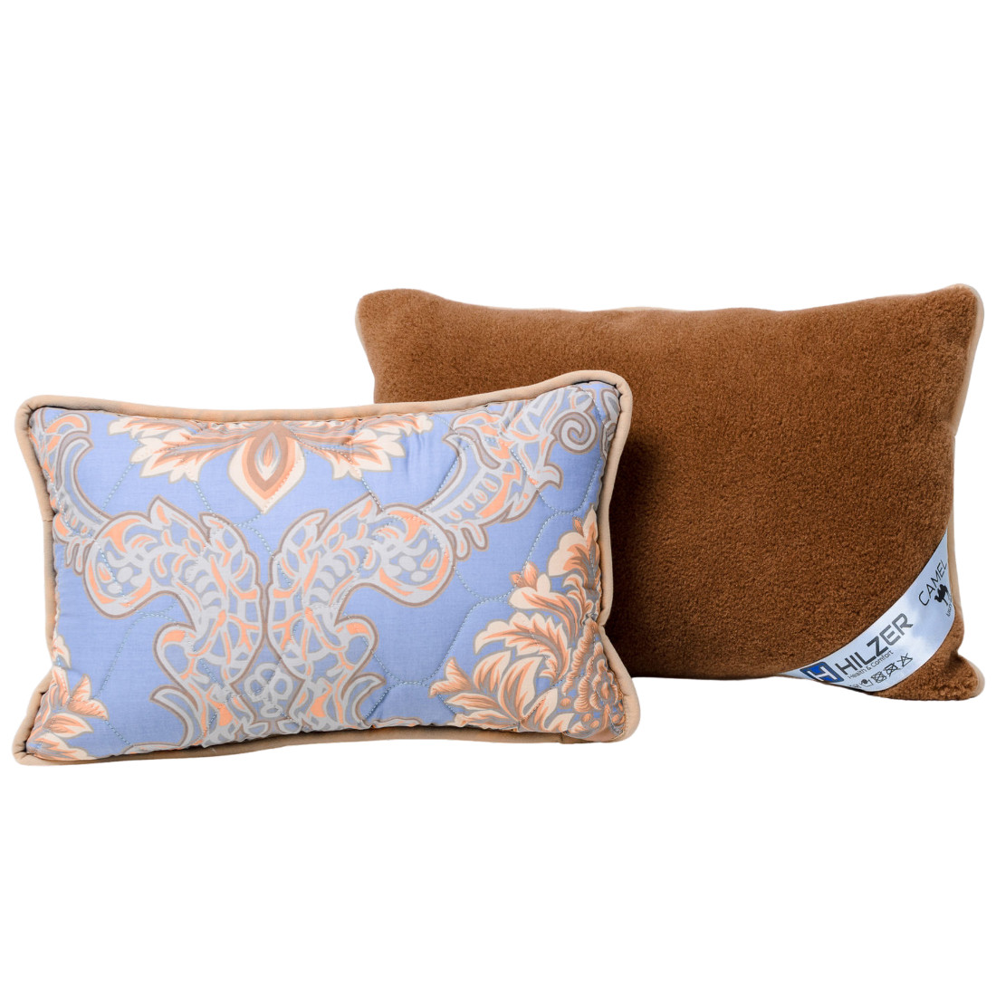 Изысканная подушка с шерсти верблюда. Шерсть/сатин. Гарантия 60 месяцев