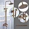 Душевая система Deco 6132 DBR бронза в античном стиле  из латуни для ванной комнаты, фото 7