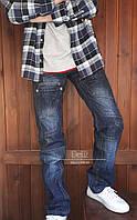 Чоловічі молодіжні джинси Vigoocc 709 з потертостями. Розмір 32