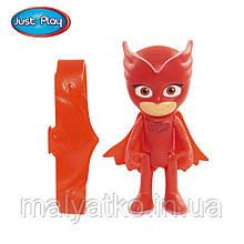 Оригінальна фігурка Алетт (Совка) з підсвічуванням + браслет, Герої в масках - Owlette, Just Play