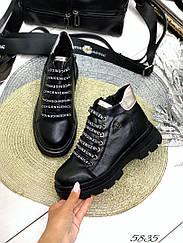 Ботинки зима Kasta чёрная кожа натуральная кожа 36 размеры