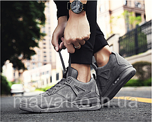 Кросівки демісезонні низькі, сірі в стилі Osiris NYC 40-43рр