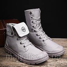 Класні демісезонні черевики сірого кольору 40-44рр