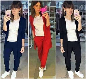 Костюм жіночий двійка кардиган + штани 40-70 розміру