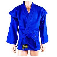 Самбовка Mizuno, куртка+шорты(эластан), синий, рост 140-190см