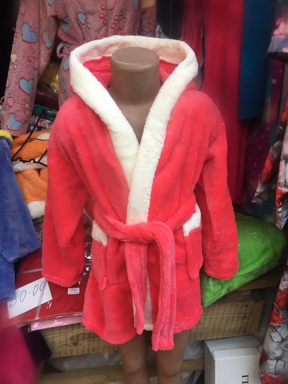 Махровый халат для девочки   5 лет