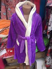 Махровый халат для девочки   5 лет, фото 3