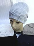Зимняя шапочка для девочки, фото 4