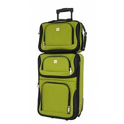 Комплект чемодан + сумка Bonro Best середній зеленый