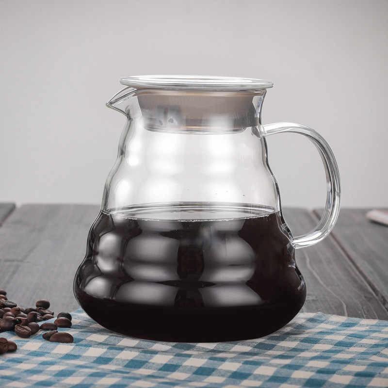 Конусний заварювальний чайник зі скла HLS 600 мл (6802)
