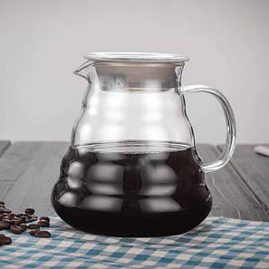Конусний заварювальний чайник зі скла HLS 600 мл (6802), фото 2