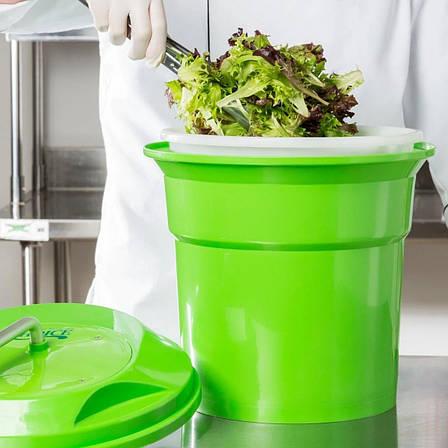 Велика центрифуга для сушіння зелені і салатів 20 л для ресторанів HLS (7967), фото 2
