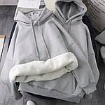Женское худи, турецкая трехнить на меху, р-р 42-44; 44-46 (меланж), фото 2