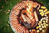 Гриль-мангал, барбекю HOLLA GRILL чёрный, закрытая тумба, фото 4