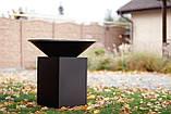 Гриль-мангал, барбекю HOLLA GRILL чёрный, закрытая тумба, фото 9